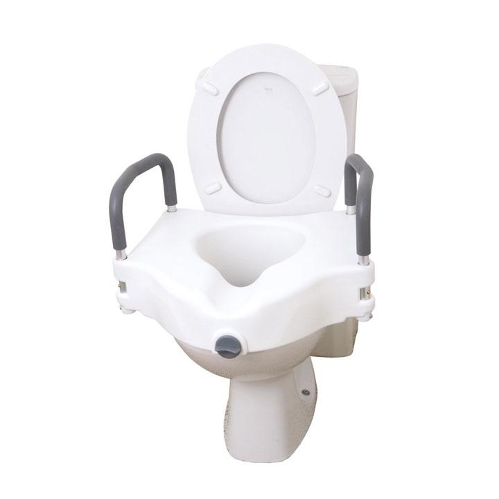 Drive 2 In 1 Universal Plastic Raised Elevated Toilet Seat