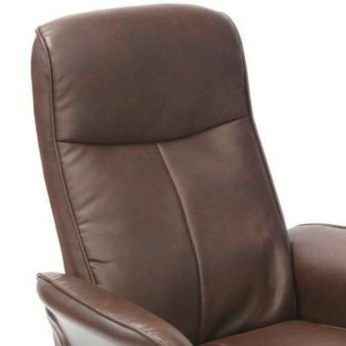 Turin-Faux-Leather-Swivel-Office-Recliner-Chair-With-Free-Footstool thumbnail 18
