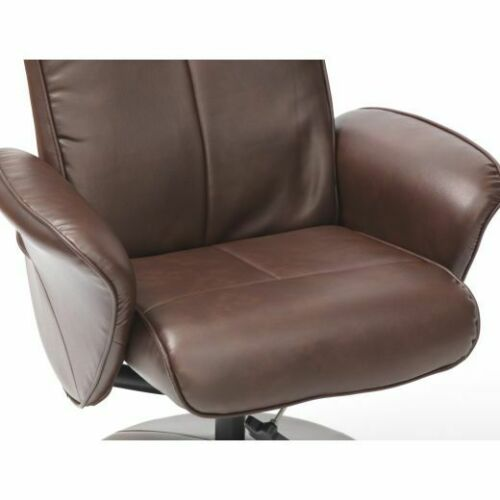 Turin-Faux-Leather-Swivel-Office-Recliner-Chair-With-Free-Footstool thumbnail 20