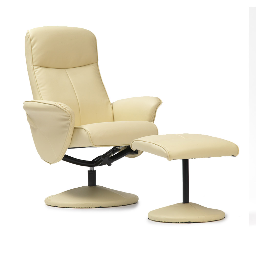 Turin Faux Leather Swivel Office Recliner Chair With Free